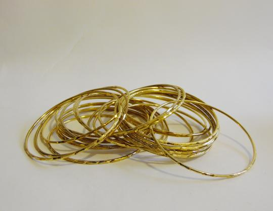 Other Glitter Goldtone 24 Piece Bangle Set Size Medium Image 2