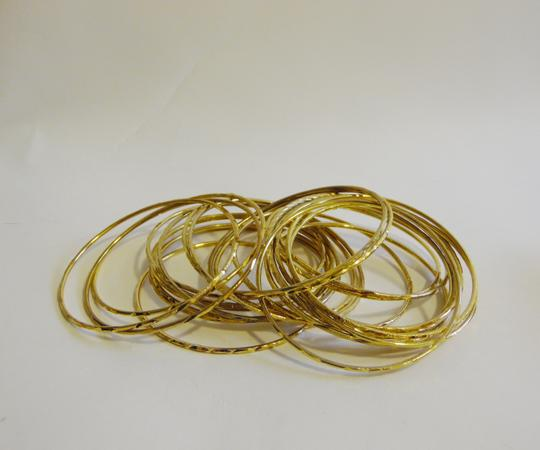 Other Glitter Goldtone 24 Piece Bangle Set Size Medium Image 3