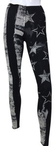 Black Stars Stripes black, grey Leggings