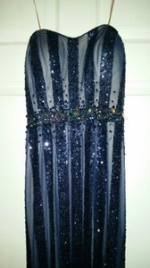 Faviana S7329 Blue Prom Homecoming Beaded Dress