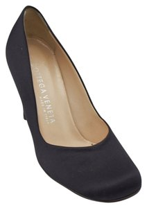 Bottega Veneta Satin Black Pumps