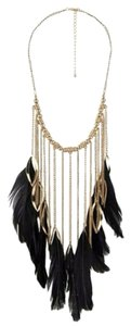 Forever 21 Feather Chain Necklace