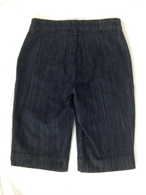 NYDJ Skimmer Lift Tuck Look Smaller Denim Bermuda Shorts Blue