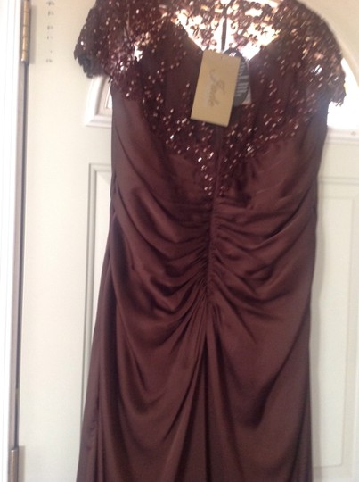 Jade Couture Expresso(Brown) Silk Chiffon K2283 Formal Bridesmaid/Mob Dress Size 16 (XL, Plus 0x)