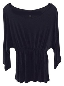 2b bebe Super Soft Peplum Top Black