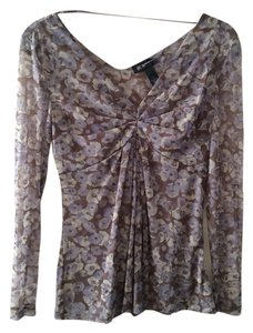 INC International Concepts Print Top Purple multi
