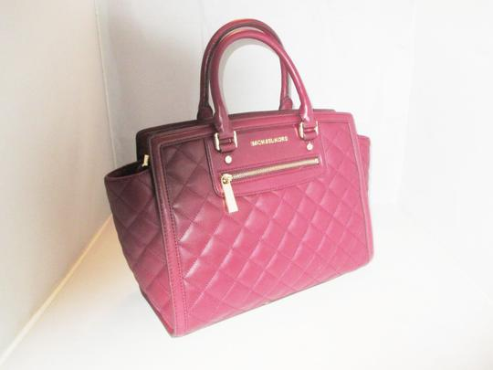 Michael Kors Next Day Shipping Satchel in Claret