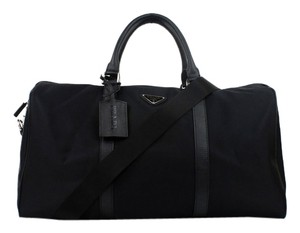 Prada Vintage Leather Nylon black Travel Bag