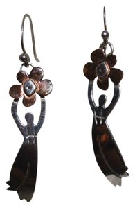 FAR FETCHED Vintage Sterling and Copper Dangle Earrings by Far Fetched