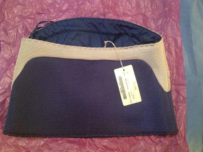 Miu Miu Nylon/Mesh Fabric Italian Size 40 Top Blue & Grey