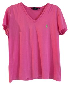 Ralph Lauren T Shirt hot pink