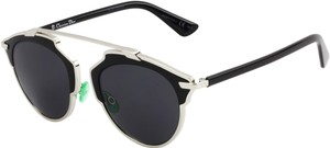 Dior Dior 'So Real' 48mm Sunglasses Palladium Black/Grey