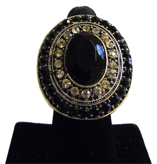 Other Black Crystal Stretch Ring Image 1