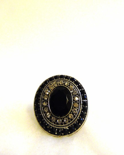 Other Black Crystal Stretch Ring Image 2