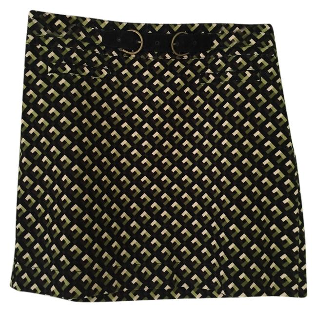 Ann Taylor LOFT Skirt Green, black, ivory