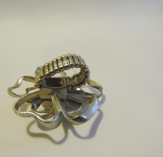 Other Silvertone Crystal Stretch Ring