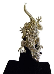Other Silvertone Lizard Stretch Ring