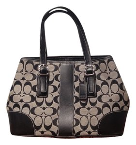 Coach Satchel in Black and Gray