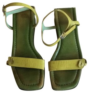 Sigerson Morrison Chartreuse and moss green Sandals