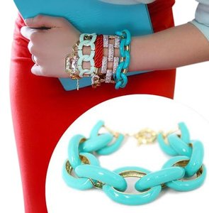 TURQUOISE ENAMEL LINK BRACELET - NEW WITHOUT TAG
