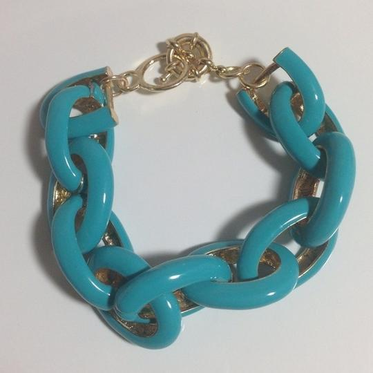 Other TURQUOISE ENAMEL LINK BRACELET - NEW WITHOUT TAG