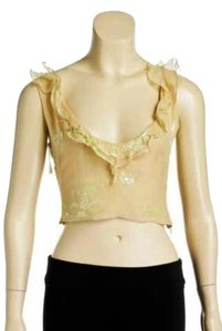 Richard Tyler Cream Beige Top