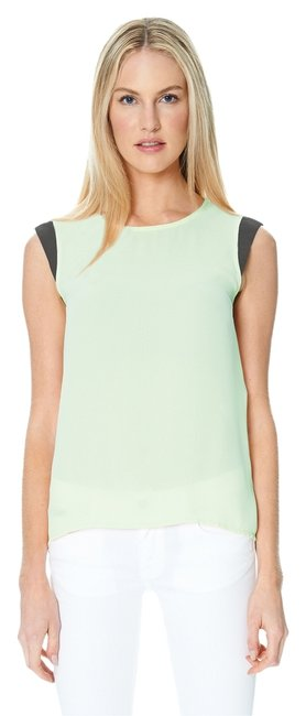 Sandra Weil Mint Grey Gray Top Green