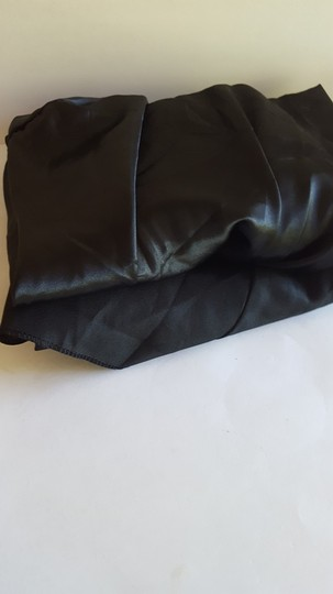 2 Black Banquet Chair Covers Satin & Polyester