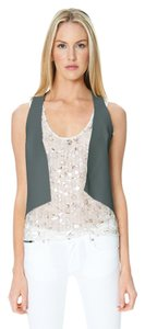 Sandra Weil Leather Gray Vest