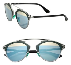 Dior Dior 'So Real' 48mm Mirrored Sunglasses Dark Ruthenium Dark Green/Green Azure Gold Mirror
