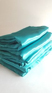 6 Jade Green Satin Overlays 7-