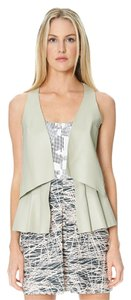Sandra Weil Leather White Black Taupe Dress
