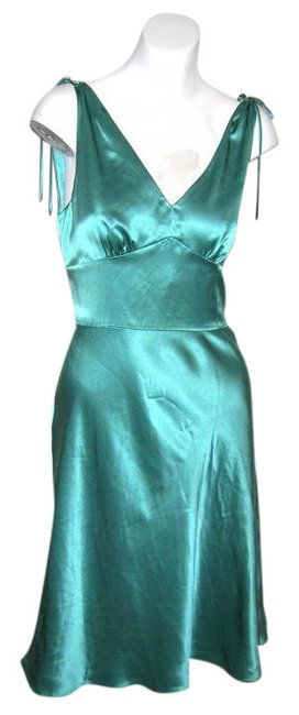 Preload https://item3.tradesy.com/images/ann-taylor-aqua-blue-loft-silk-swing-new-years-eve-prom-party-knee-length-cocktail-dress-size-petite-510752-0-0.jpg?width=400&height=650