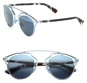 Dior Dior 'So Real' 48mm Mirrored Sunglasses Transparent Light Blue/Aqua Silver
