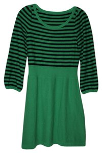 Juicy Couture short dress green Sweater Striped on Tradesy