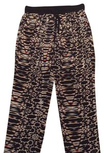 Maje Relaxed Pants Black with white