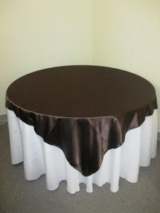 4 Four Satin Chocolate Brown Overlays