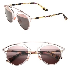 Dior Dior 'So Real' 48mm Mirrored Sunglasses Transparent Light Pink Rose Gold/Pink Mirror