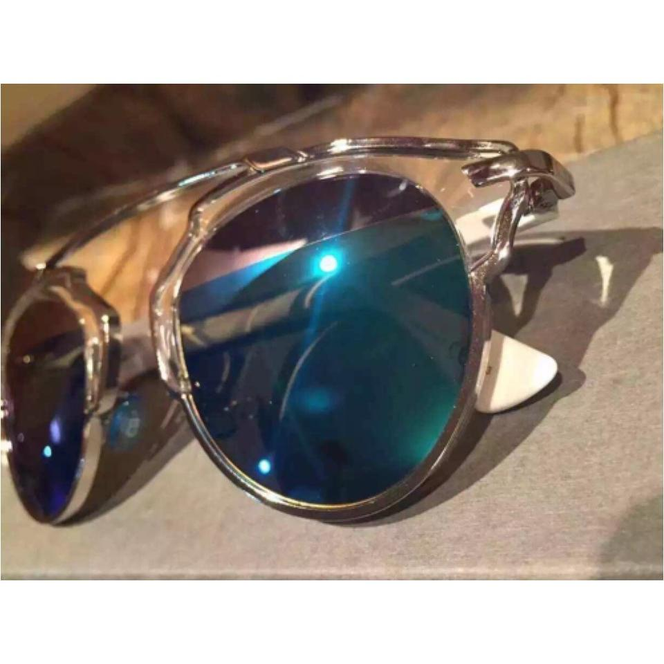 5dceaeada7ad Dior Palladium White Silver Blue Mirror  so Real  48mm White Silver  Sunglasses - Tradesy