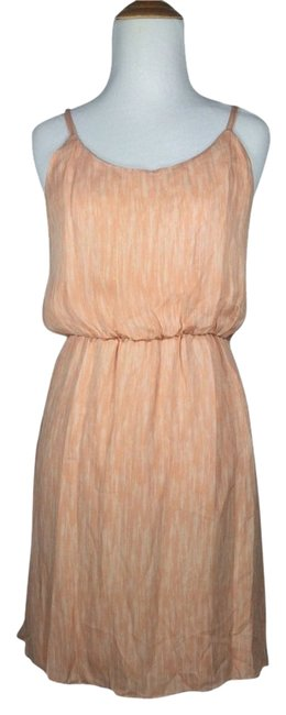 Alice + Olivia short dress peach #alice+olivia #silk #strappy #spaghettistrap on Tradesy