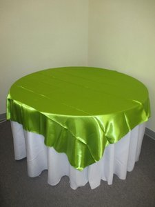 14 Sage Green Satin Overlays 72