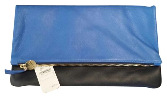 Clare V. cobalt blue and back Clutch