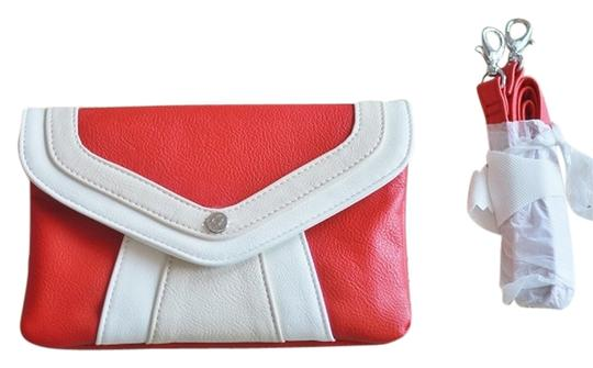 GA Cherry Striped Envelope Chevron Retro Cross Body Bag