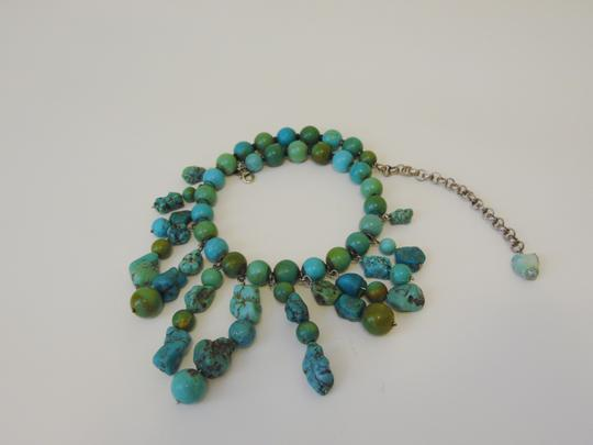 Other .925 Sterling SilvervTurquoise Tribal Necklace 4.5 Extender