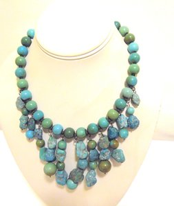 Colleen Lopez Colleen Lopez Turquoise Tribal Beaded Neckace