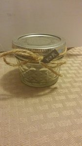 Small 4 Oz Quilted Mason Jars With Twine Bows