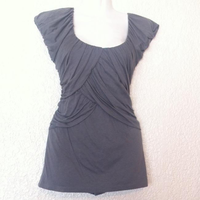Anthropologie Deletta Wynwood Pleated Top Gray Image 1