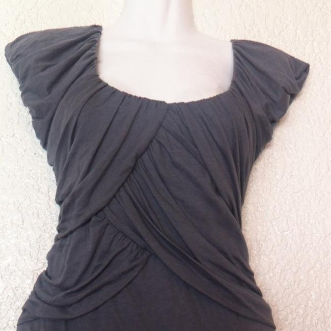 Anthropologie Deletta Wynwood Pleated Top Gray Image 2