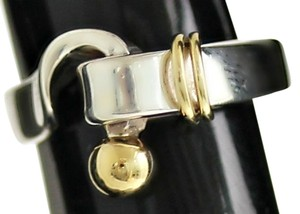 Tiffany & Co. Authentic Tiffany & Co. Sterling Silver & 18K Gold Hook Clasp Ring