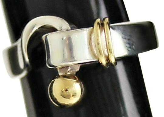 Preload https://item3.tradesy.com/images/tiffany-and-co-authentic-tiffany-and-co-sterling-silver-and-18k-gold-hook-clasp-ring-5108587-0-0.jpg?width=440&height=440